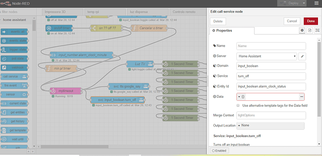 node input bollean