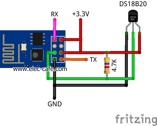 Temperature-Sensor-on-the-web-with-ESP8266-and-DS18B20_Elec-Cafe